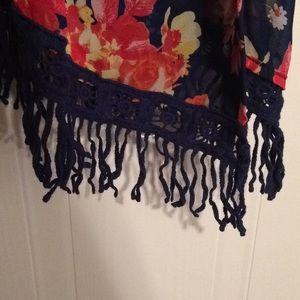 Anthropologie Tops - $14 bobeau anthropologie floral kimono NWT